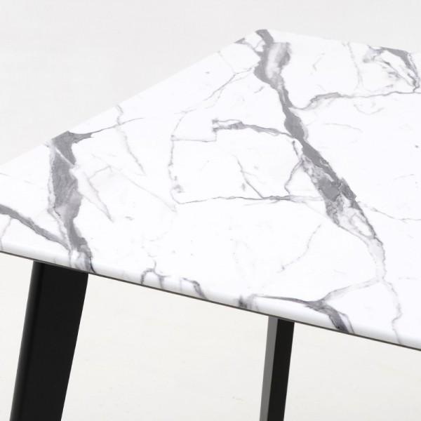 INART Ξύλινo Τραπέζι 91X91X75 εκ White & Black ΚΩΔΙΚΟΣ: 3-50-891-0016