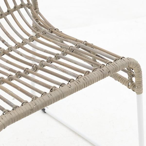 INART Καρέκλα Ρατάν 44X45X75 εκ Grey, Brown ΚΩΔΙΚΟΣ: 3-50-549-0003