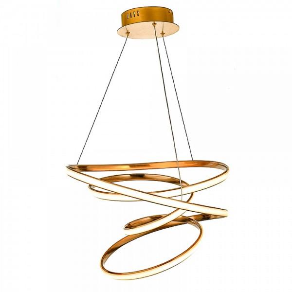 Inlight Κρεμαστό φωτιστικό από αλουμίνιο σε χρυσή ματ απόχρωση 6149-Α-Χρυσό