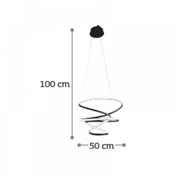 Inlight Κρεμαστό φωτιστικό από αλουμίνιο σε μαύρη απόχρωση 6148-Α-Μαύρο