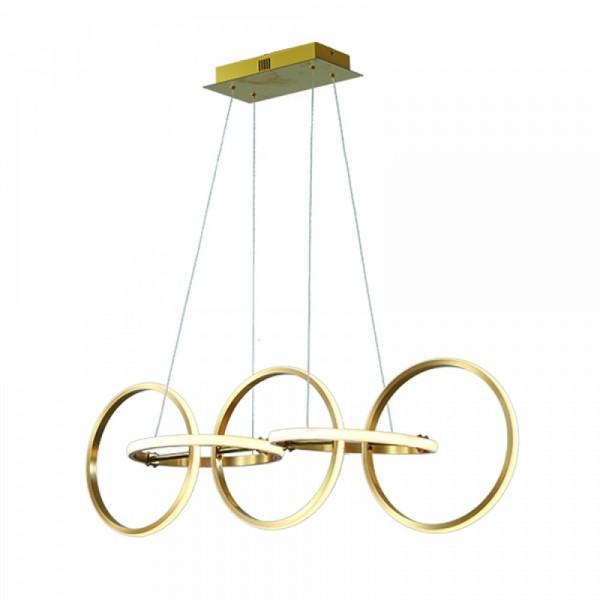 Inlight Κρεμαστό φωτιστικό από αλουμίνιο σε χρυσή ματ απόχρωση 6163-Χρυσό Ματ