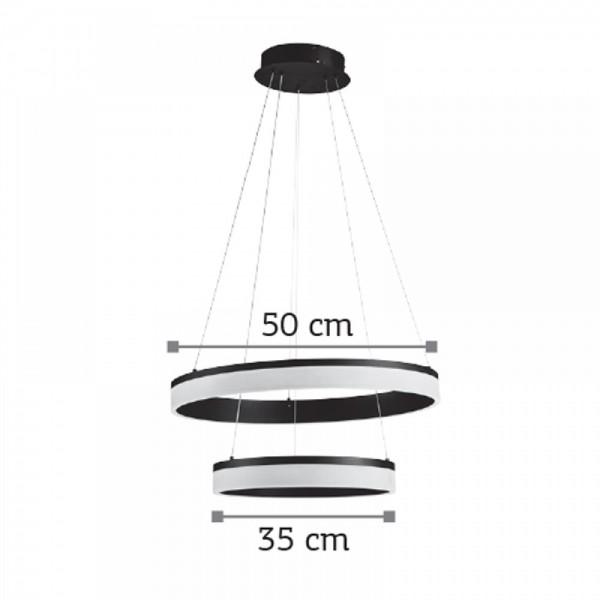 Inlight Κρεμαστό φωτιστικό από αλουμίνιο σε μαύρη απόχρωση 6154-Α-Μαύρο