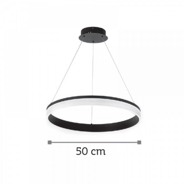 Inlight Κρεμαστό φωτιστικό από αλουμίνιο σε μαύρη απόχρωση 6154-Β-Μαύρο