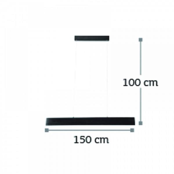Inlight Κρεμαστό φωτιστικό από αλουμίνιο σε ασημί απόχρωση 6160-Α-Ασημί