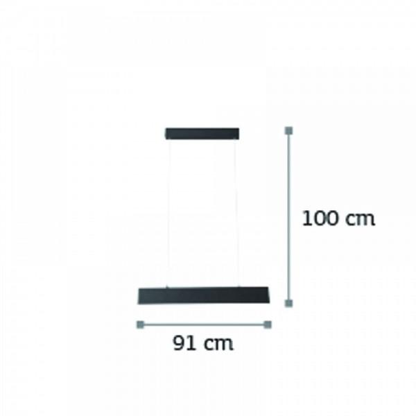 Inlight Κρεμαστό φωτιστικό από αλουμίνιο σε ασημί απόχρωση 6160-Β-Ασημί