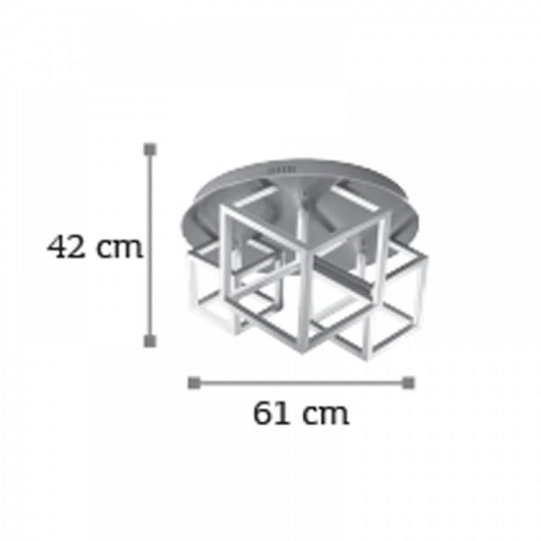 Inlight Φωτιστικό οροφής από αλουμίνιο σε χρώμιο απόχρωση 6147-80-Χρώμιο