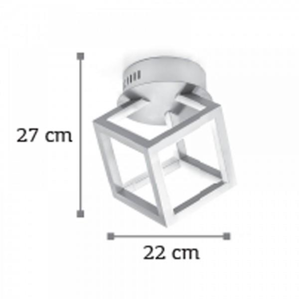 Inlight Φωτιστικό οροφής από αλουμίνιο σε χρώμιο απόχρωση 6147-20-Χρώμιο