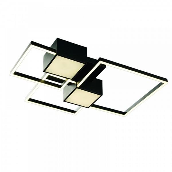 Inlight Φωτιστικό οροφής από αλουμίνιο σε μαύρη απόχρωση 6156-Μαύρο