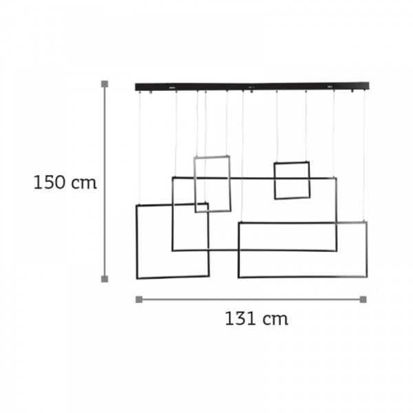 Inlight Κρεμαστό φωτιστικό από αλουμίνιο σε μαύρη απόχρωση 6164-Μαύρο