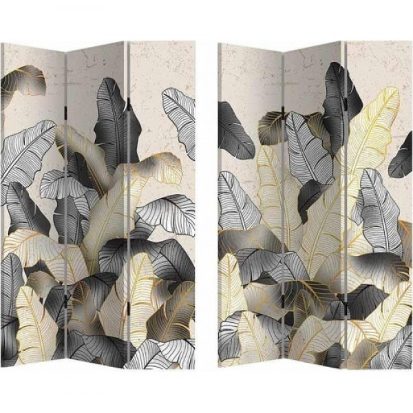 INART Παραβάν 2 Όψεων Printed Canvas Λουλούδια 120Χ3Χ180 Κωδικός: 3-50-610-0221