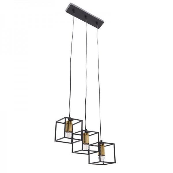 INART Φωτιστικό Οροφής 3Φωτο Μεταλλικό inart 38X13X28εκ. ΚΩΔΙΚΟΣ: 3-10-650-0009