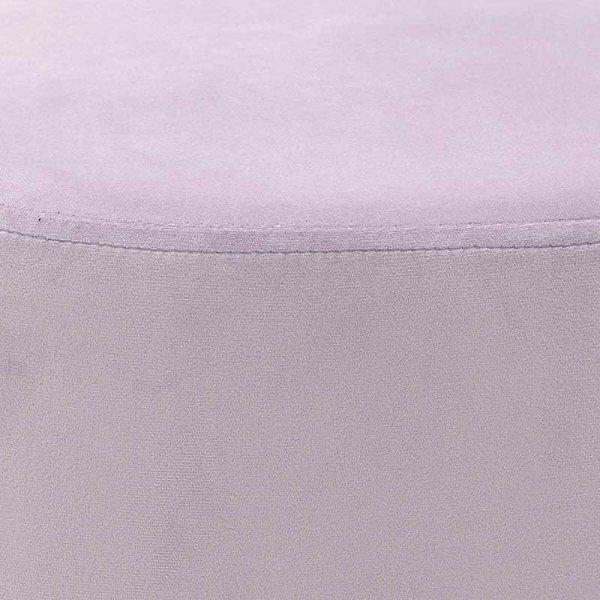 INART Σκαμπώ Βελούδινο Οβάλ  Purple 60x40x40 ΚΩΔΙΚΟΣ: 3-50-104-0324