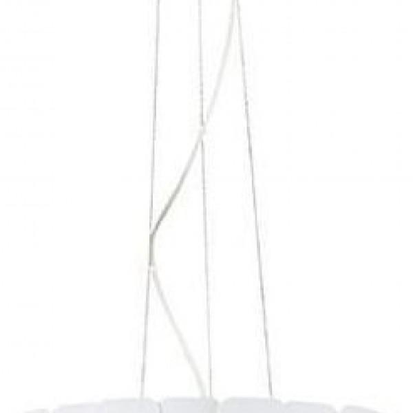 Lexi Κρεμαστό Πλαστικό PVC Καπέλο Ανάγλυφο Φ45cm Υ130cm Λευκό 4129000 viokef