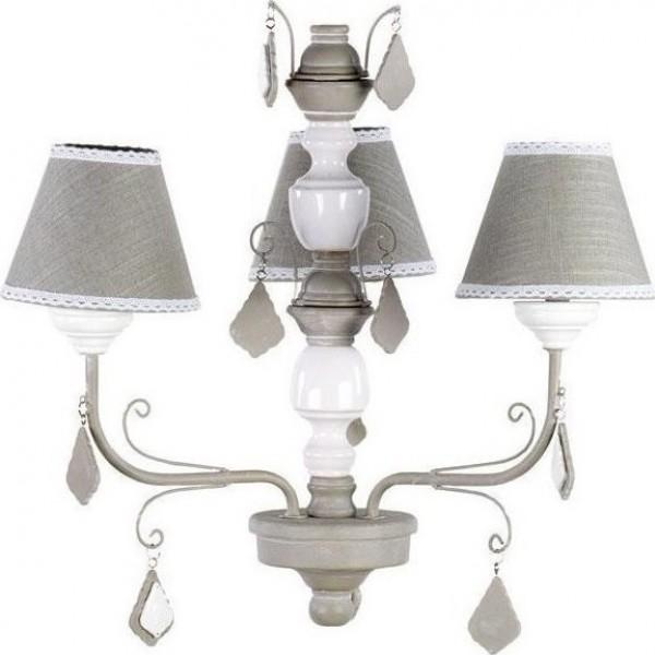 Φωτιστικό οροφής 3φωτο γκρι λευκό 47x55 cm 3-10-876-0037