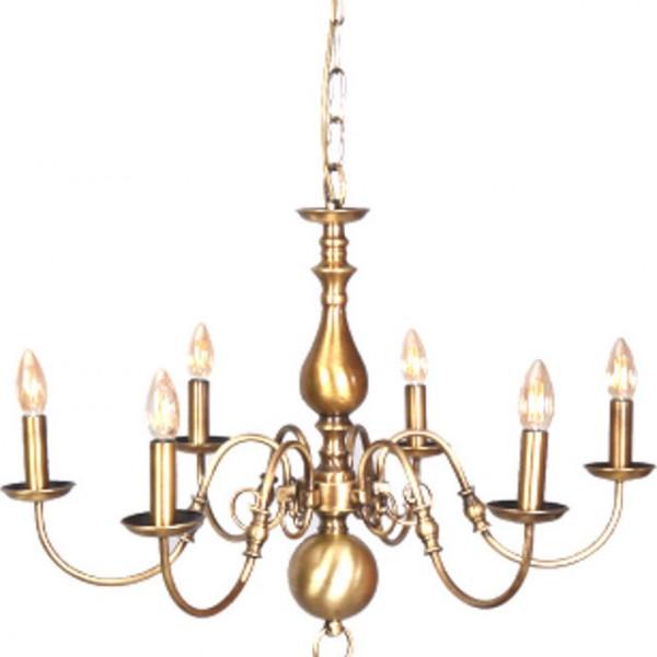 Φωτιστικό οροφής μεταλλο οξυντέ 6φωτο Inlight 55εκ 5309-6