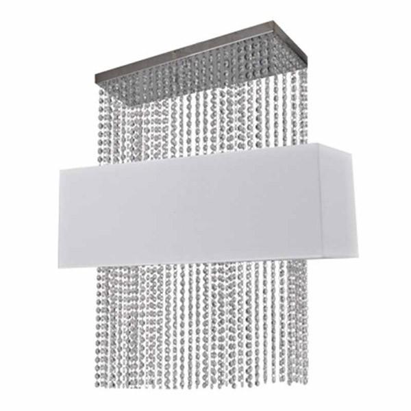 Ideal Phoenix Φωτιστικό Οροφής Με Κρύσταλλα Λευκό Κωδικός: 099101