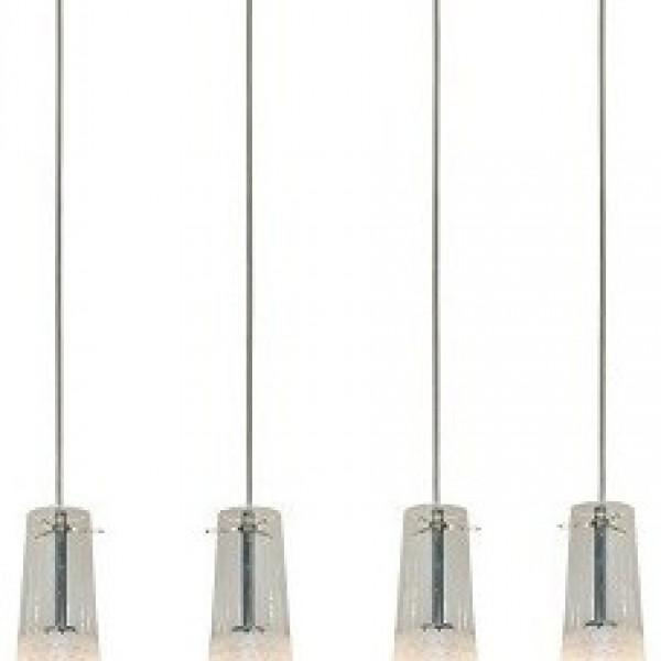 Πολύφωτο 4Φ Σε Διάφανο Και Λευκό Χρώμα Home Lighting Como 77-3757