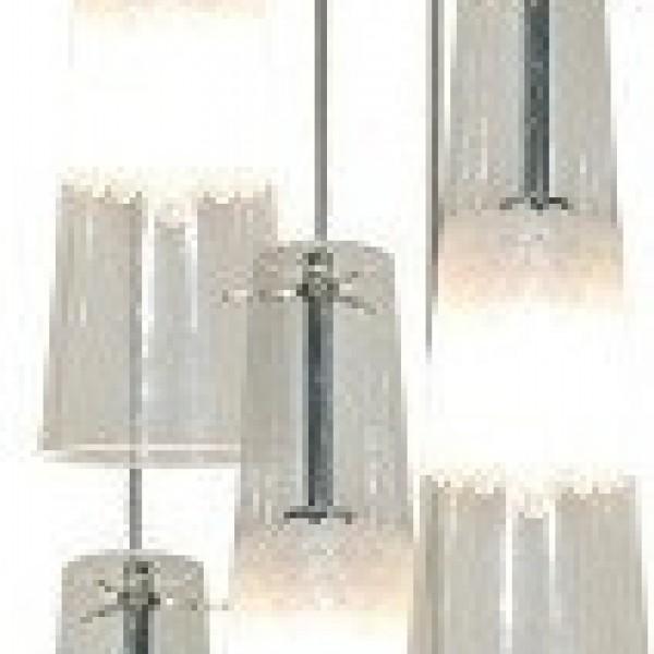 Πολύφωτο 5Φ Σε Διάφανο Και Λευκό Χρώμα Home Lighting Como 77-3758