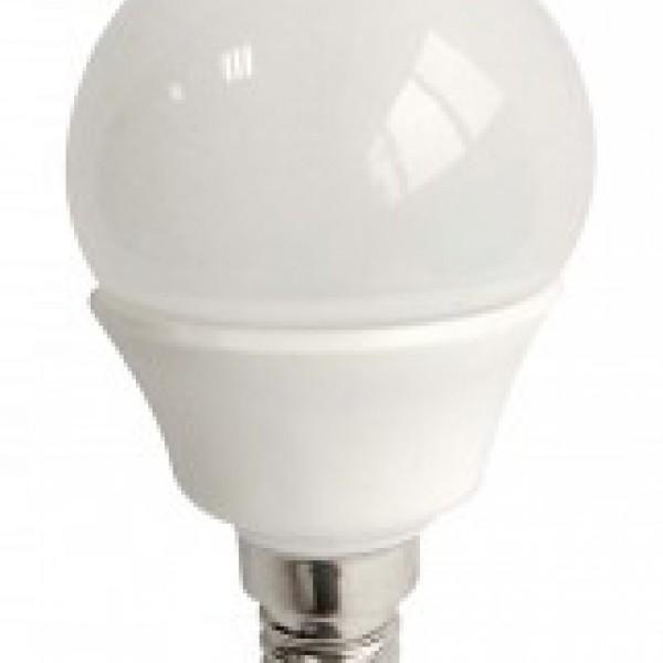 LED E14 G45 5watt Λευκό Κάλυμμα - Θερμό INLIGHT 7.14.05.14.1
