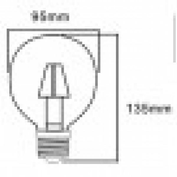 LED Filament E27 6watt G95 INLIGHT 7.27.06.16.1