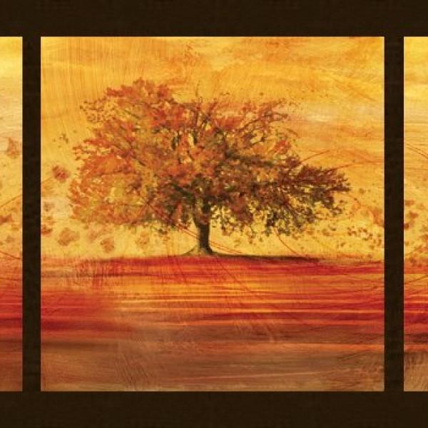 ΠΙΝΑΚΑΣ BIZART Autumn leaves ΚΑΝΑΚΗΣ 140Χ70ΕΚ ΜΕ ΚΟΡΝΙΖΑ ΞΥΛΙΝΗ KS0810