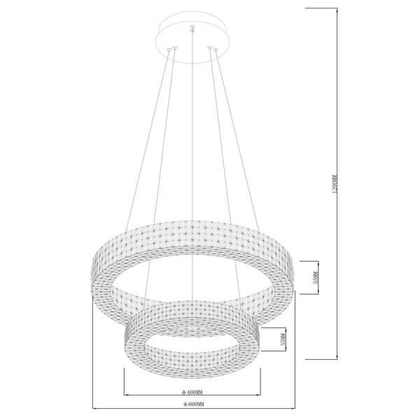 ΠΟΛΥΦΩΤΟ-ΚΡΕΜΑΣΤΟ ΦΩΤΙΣΤΙΚΟ LED-ΚΩΔ. CILA-600+400