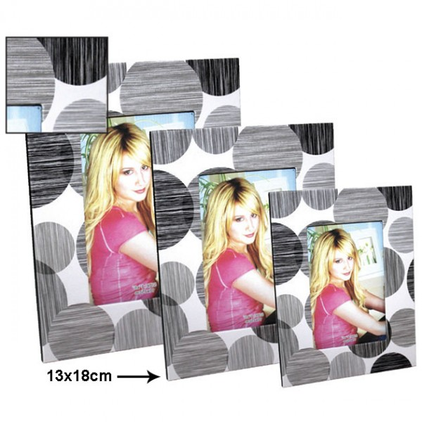 ΚΟΡΝΙΖΑ ΦΩΤΟΓΡΑΦΙΑΣ ΓΚΡΙ ΚΥΚΛΟΙ 13x18cm  1/72 ΚΙΒ