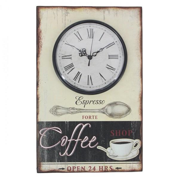 ΞΥΛΙΝΟ ΔΙΑΚΟΣΜΗΤΙΚΟ ΩΡΟΛΟΪ/ΤΖΑΜΙ - COFFEE 23x36cm 8/KIB