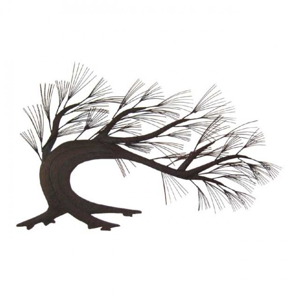 MARHOME ΜΕΤΑΛΛΙΚΟ ΔΙΑΚΟΣΜΗΤΙΚΟ ΤΟΙΧΟΥ - ΔΕΝΤΡΟ 97x61x3cm  4/ΚΙΒ