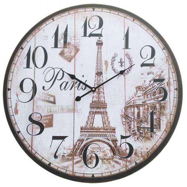 ΔΙΑΚΟΣΜΗΤΙΚΟ ΩΡΟΛΟΪ ΤΟΙΧΟΥ MDF - PARIS ΜΕ Φ60cm 1/6ΚΙΒ