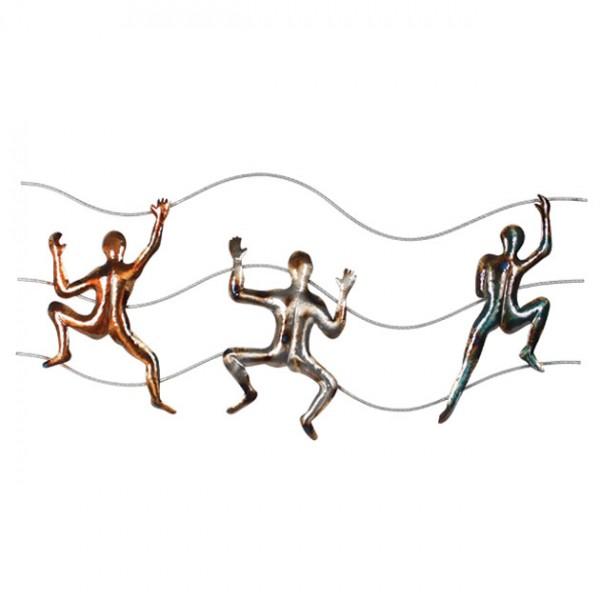 MARHOME ΜΕΤΑΛΛΙΚΟ ΔΙΑΚΟΣΜΗΤΙΚΟ ΤΟΙΧΟΥ - ΑΝΑΡΡΙΧΗΣΗ 82x38x3cm 6/ΚΙΒ
