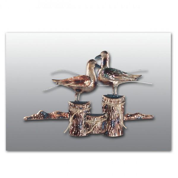 MARHOME ΜΕΤΑΛΛΙΚΟ ΓΛΑΡΟΙ ΣΤΟ ΛΙΜΑΝΙ ΣΕ ΓΚΡΙ ΚΑΜΒΑ 100x52x3cm.