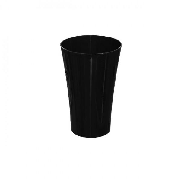 MARHOME ΑΝΘΟΔΟΧΕΙΟ ΜΑΥΡΟ ΠΛΑΣΤΙΚΟ FLAΚON ORCHIDEA - Φ12x18.5cm