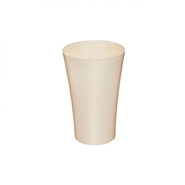 MARHOME ΑΝΘΟΔΟΧΕΙΟ ΜΠΕΖ ΠΛΑΣΤΙΚΟ FLAΚON ORCHIDEA - Φ12x18.5cm
