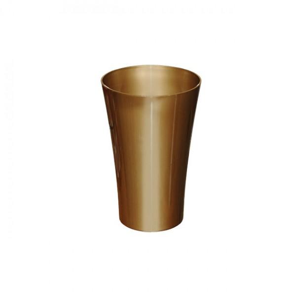 MARHOME ΑΝΘΟΔΟΧΕΙΟ ΧΡΥΣΟ ΠΛΑΣΤΙΚΟ FLAΚON ORCHIDEA - Φ12x18.5cm
