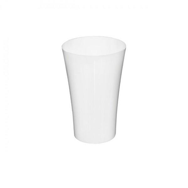MARHOME ΑΝΘΟΔΟΧΕΙΟ ΛΕΥΚΟ ΠΛΑΣΤΙΚΟ FLAΚON ORCHIDEA - Φ12x18.5cm