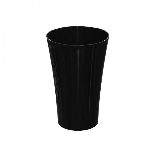 MARHOME ΑΝΘΟΔΟΧΕΙΟ ΜΑΥΡΟ ΠΛΑΣΤΙΚΟ FLAΚON ORCHIDEA - Φ14x21cm