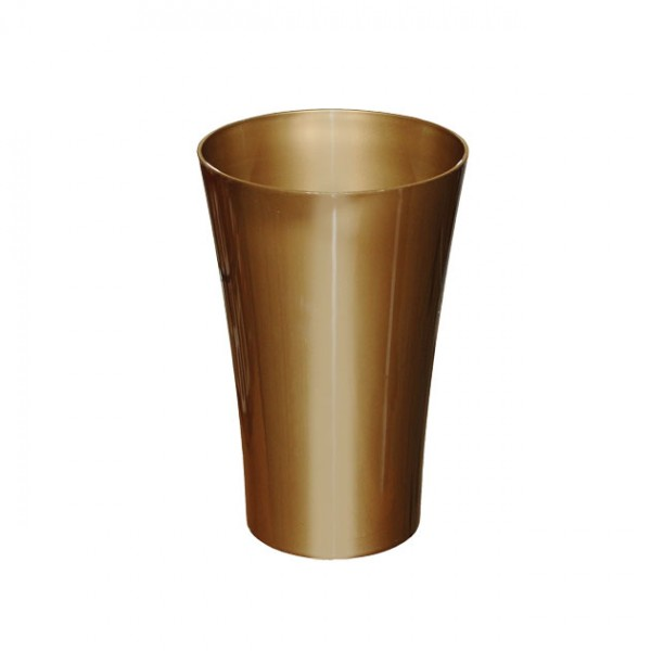 MARHOME ΑΝΘΟΔΟΧΕΙΟ ΧΡΥΣΟ ΠΛΑΣΤΙΚΟ FLAΚON ORCHIDEA - Φ14x21cm