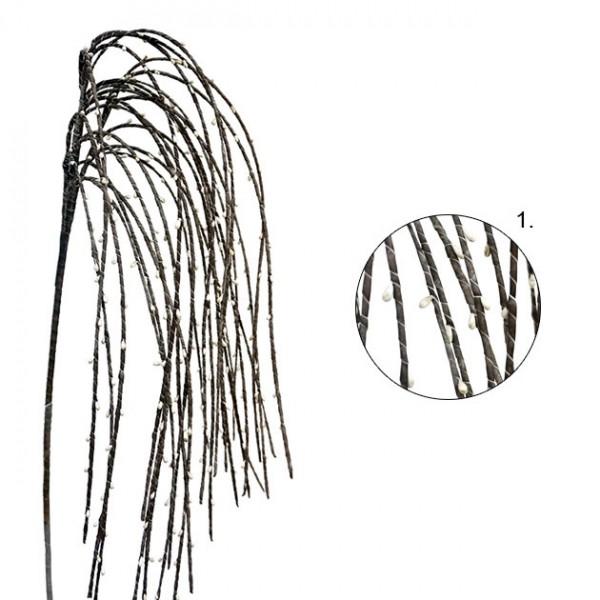 ΚΛΑΔΙ FOAM ΓΚΡΑΣΣ ΓΚΡΙ ΜΕΤΑΛΛΙΚΟ ΧΡΩΜΑ Y80cm. 12/120ΚΙΒ