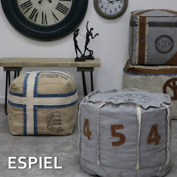 Espiel ΠΟΥΦ ΣΤΡΟΓΓ. ΓΚΡΙ ΝΟΥΜΕΡΑ 50Χ50Χ46ΕΚ.