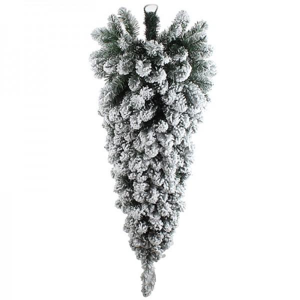 INART Χριστουγεννιάτικο Ανάποδο Δέντρο 20X20X120 εκ Green, White-Ivory ΚΩΔΙΚΟΣ: 2-85-566-0069