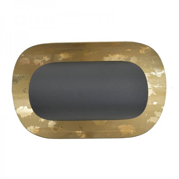 INART Απλίκα 20X11X12 εκ Golden, Black ΚΩΔΙΚΟΣ: 3-10-848-0001