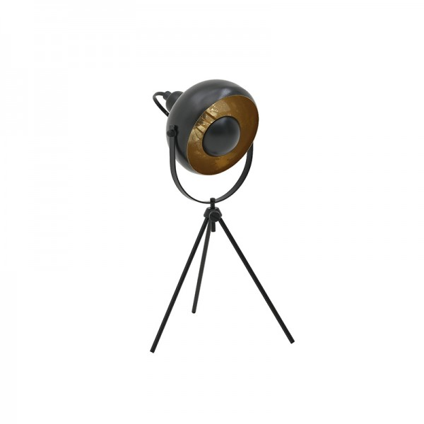 INART Επιτραπέζιο Φωτιστικό 20X20X34 εκ Golden, Black ΚΩΔΙΚΟΣ: 3-15-848-0006