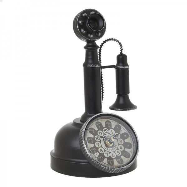 INART Επιτραπέζιο Ρολόι 18X18X30 εκ Black ΚΩΔΙΚΟΣ: 3-20-977-0298