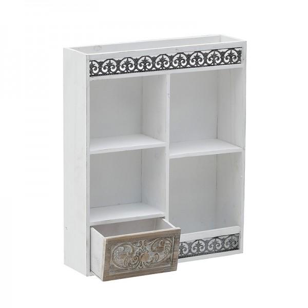 INART Ντουλάπι Τοίχου 43X12X52 εκ White-Ivory, Natural-Beige ΚΩΔΙΚΟΣ: 3-50-913-0040