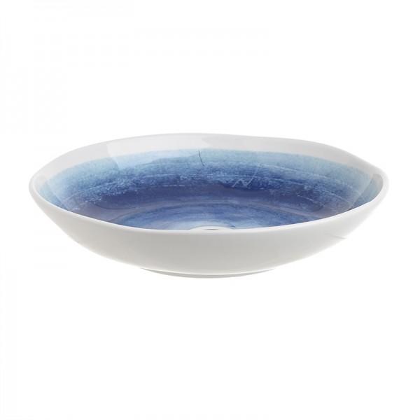 INART Κεραμικό Μπώλ 30X30X6 εκ Blue, White-Ivory ΚΩΔΙΚΟΣ: 3-60-017-0019