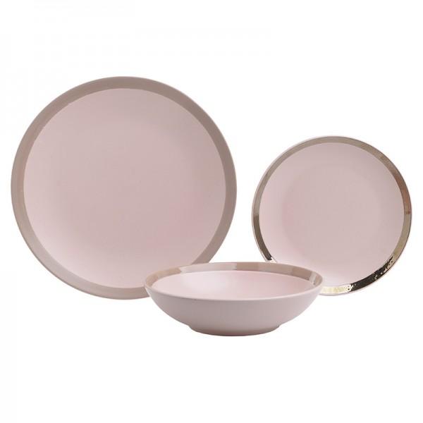 INART Σετ Φαγητού 18 Τεμαχίων 27Χ27Χ3 εκ Pink-Purple ΚΩΔΙΚΟΣ: 3-60-332-0003
