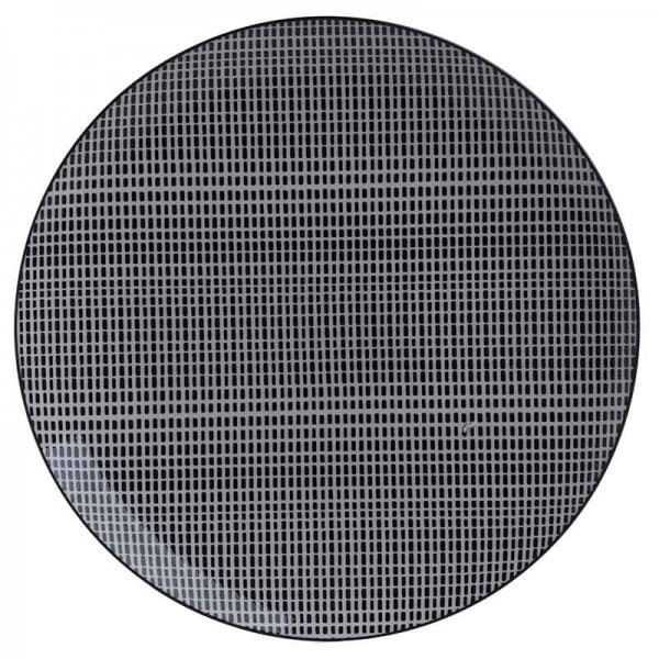 INART Πιάτο Σετ Των 12 27X27 εκ White & Black ΚΩΔΙΚΟΣ: 3-60-508-0003