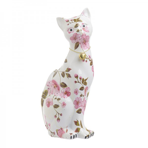INART Διακοσμητική Γάτα 11X8X25 εκ Pink-Purple, White-Ivory ΚΩΔΙΚΟΣ: 3-70-107-0030