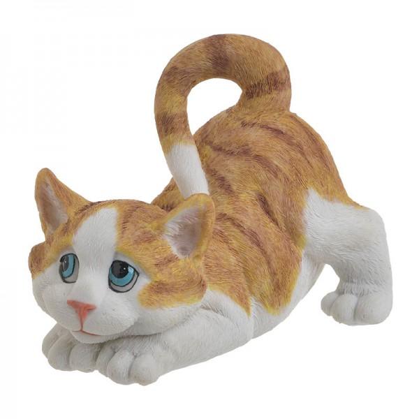 INART Διακοσμητική Γάτα 17X12X13 εκ White-Ivory, Yellow-Orange ΚΩΔΙΚΟΣ: 3-70-146-0417